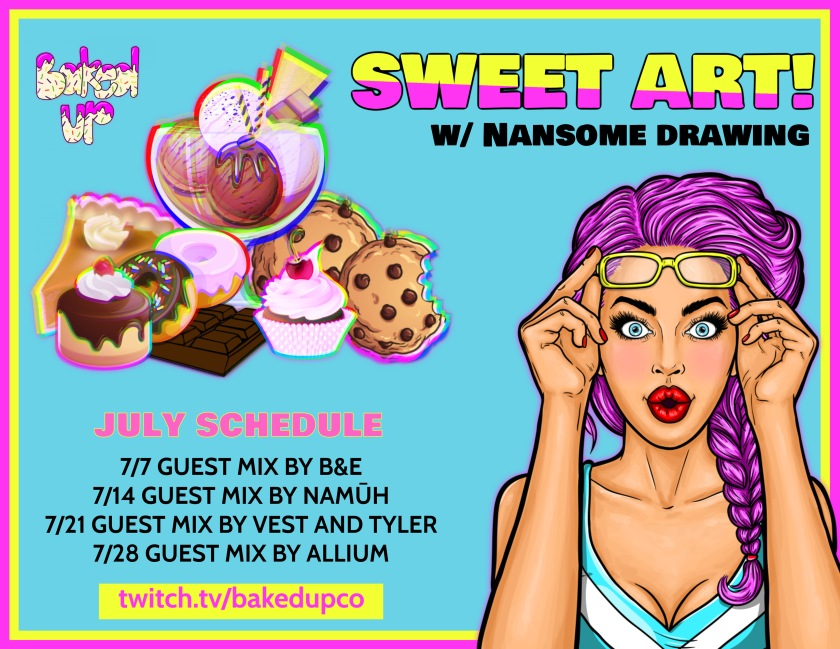 SWEET ART JULY SCHEDULE UPDATED