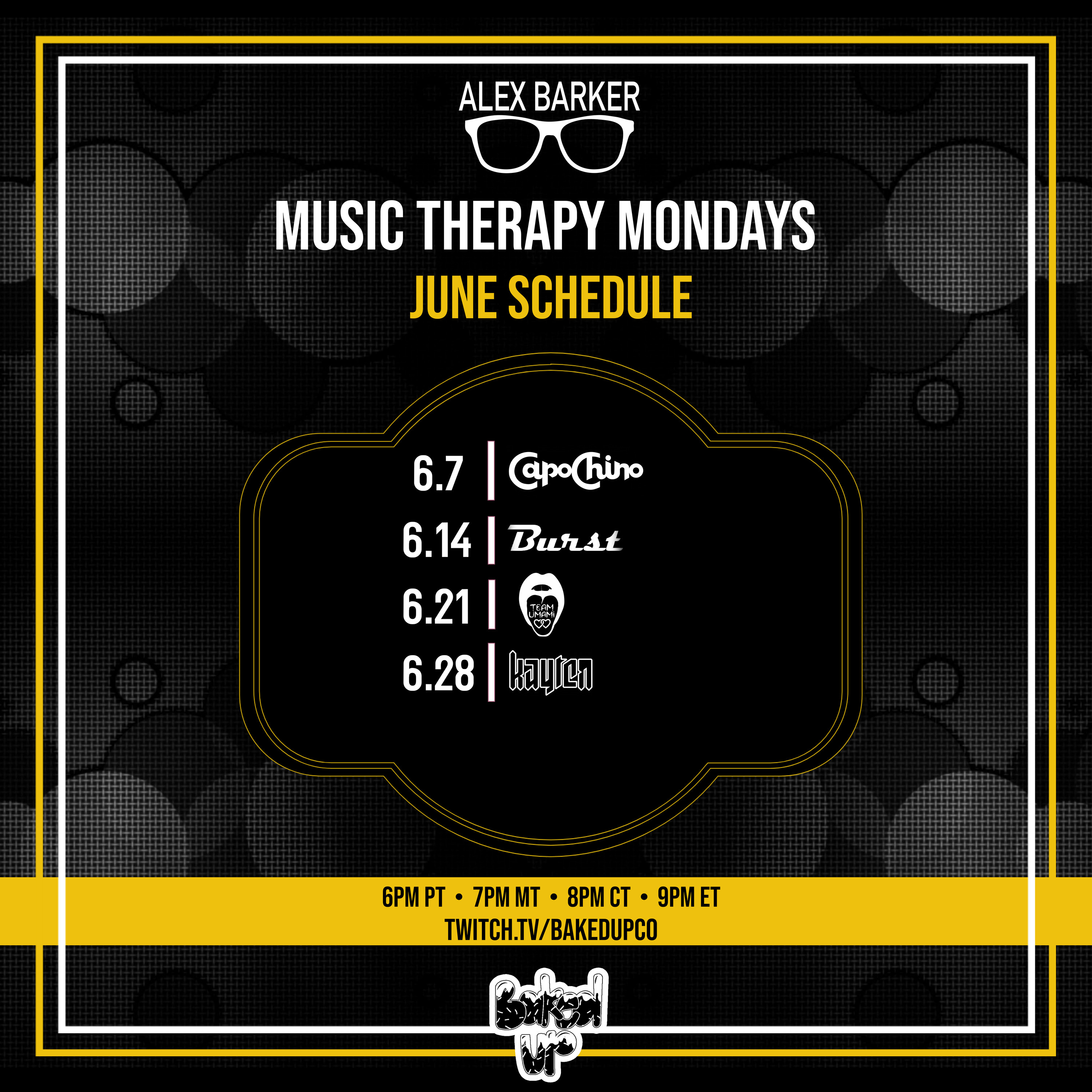 Music Therapy Monday JUNE Schedule