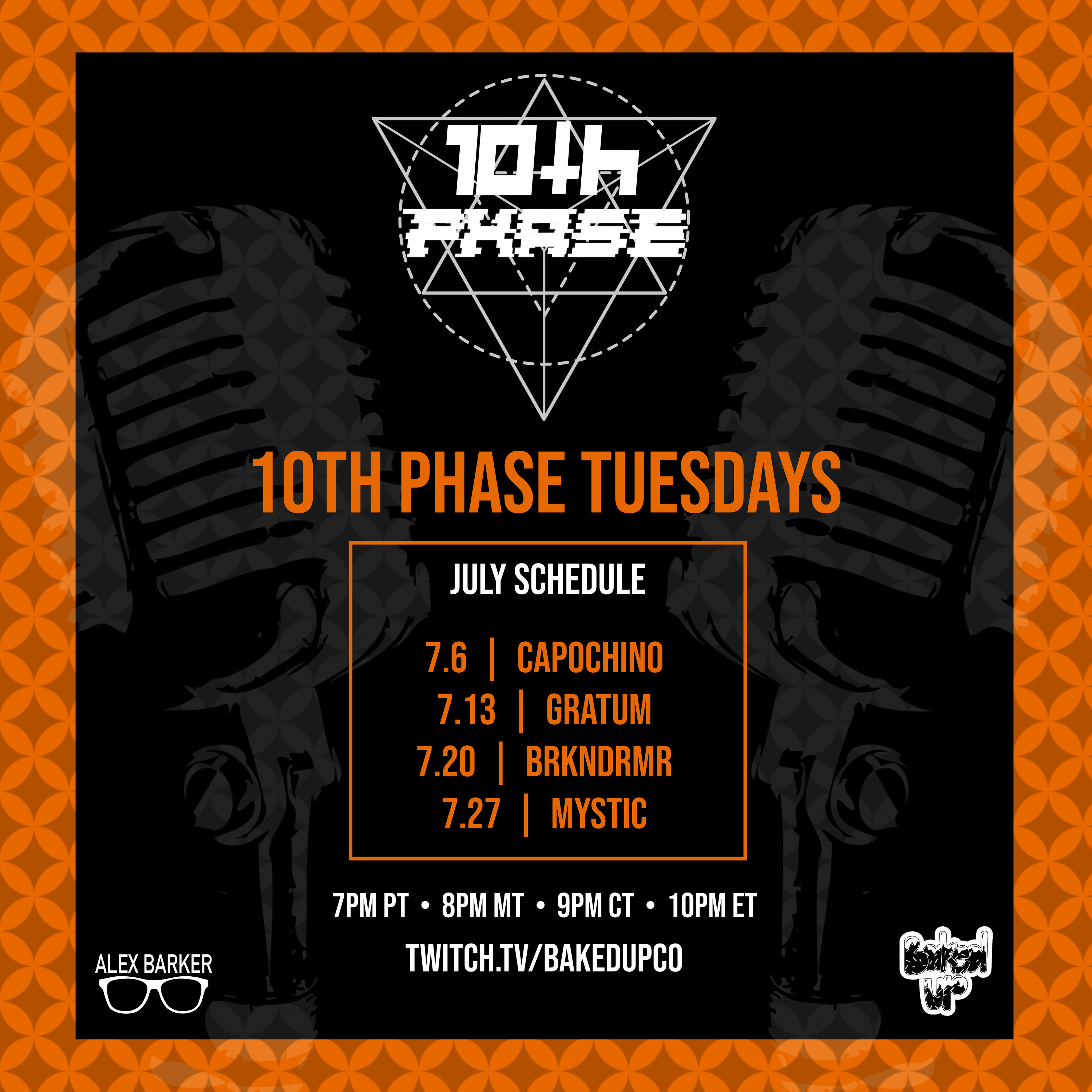 10TH PHASE TUESDAY MAIN JULY Schedule